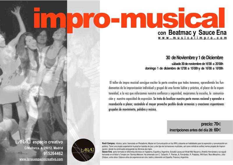 Curso de improvisación musical en el Espacio La Nau de Madrid
