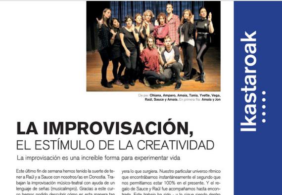 La improvisación, el estímulo de la creatividad